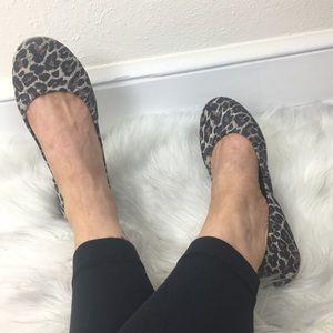 Lucky Brand Emmie Leopard Ballet Flats size 7